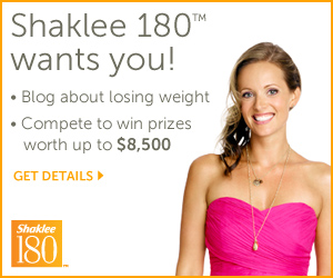 Shaklee 180 Wants YOU! Blog About Losing Weight and Compete to Win Prizes Worth Up to $8,500