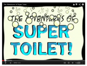 online comic The Adventures of Super Toilet