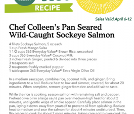 Whole Foods Recipe – Pan Seared  Wild Sockeye Salmon